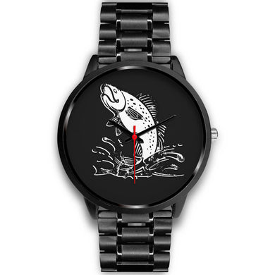 Fishing Lovers' Black Metal Watch