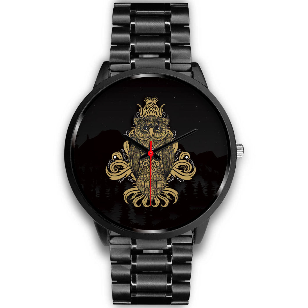 Night Owl Black Metal Watch