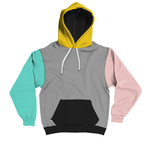 Mixed Colour Contrast Hoodie