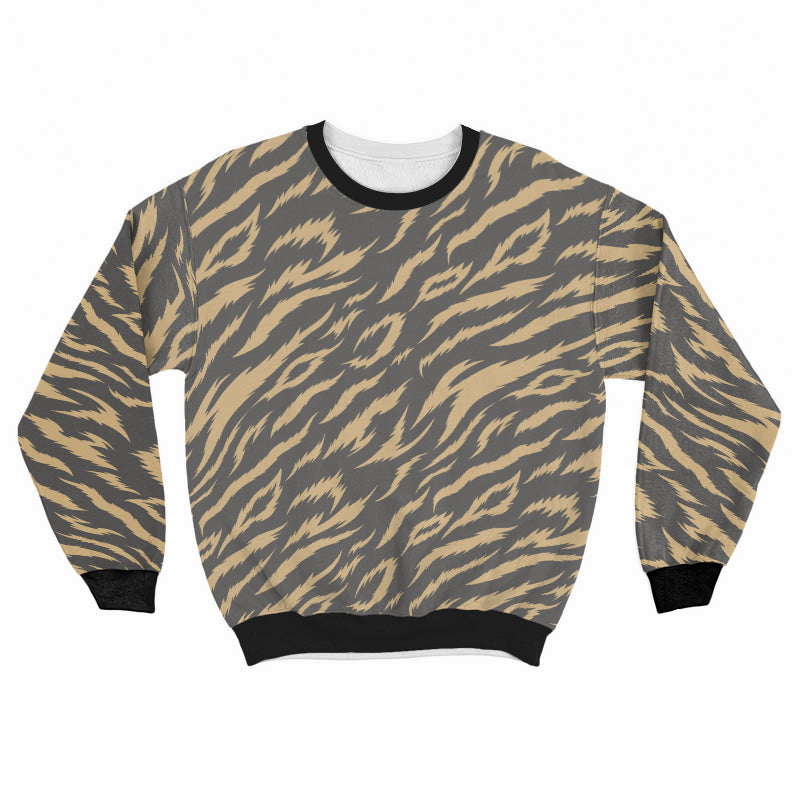 Tiger Pattern Crew SweatShirt