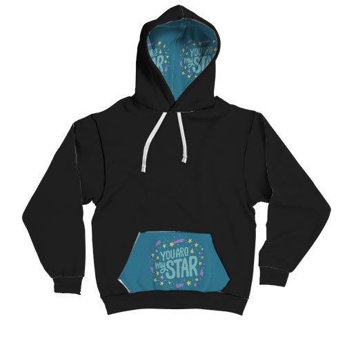 """You're my star"" contrast hoodie"