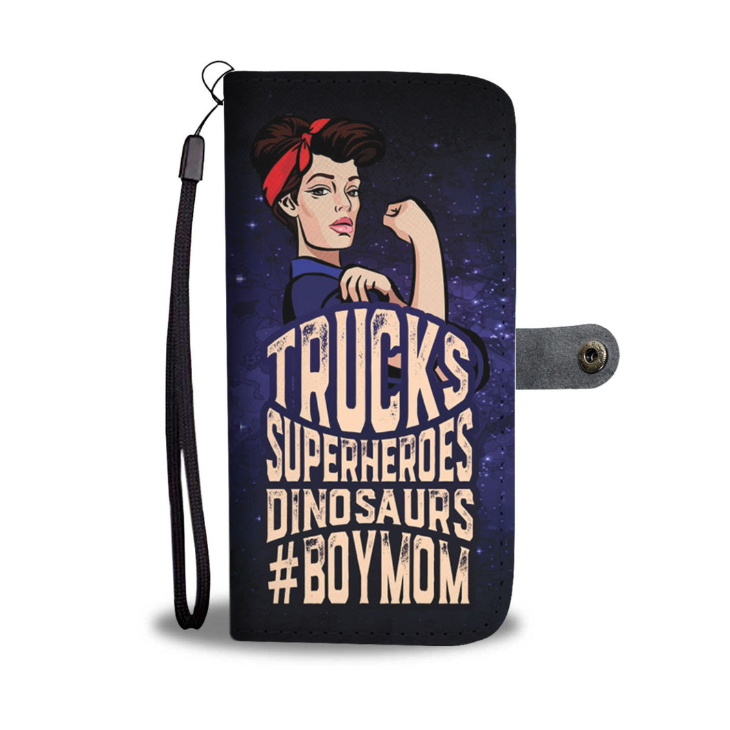 Boymom wallet phone case