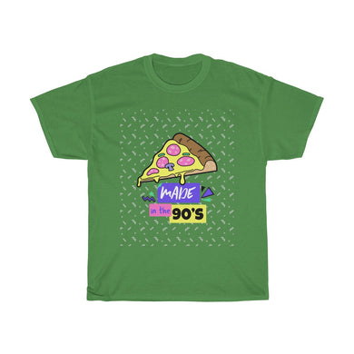 Menstylica Unisex Heavy Cotton Tee For Pizza Lovers - Made in 90's