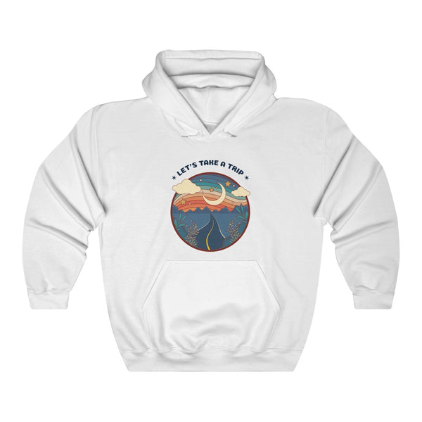 Menstylica Unisex Heavy Blend™ Hooded Sweatshirt - Let's Take A Trip