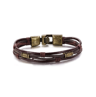 Multi-Layer Genuine Leather Casual Bracelet - Sky Bracelets