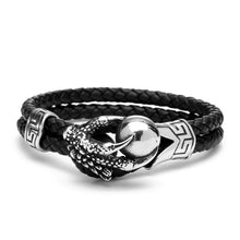 Stainless Steel Eagle Claws Genuine Leather Bracelet - Sky Bracelets