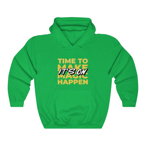 Menstylica Unisex Heavy Blend™ Hooded Sweatshirt - It's on time to make magic happen