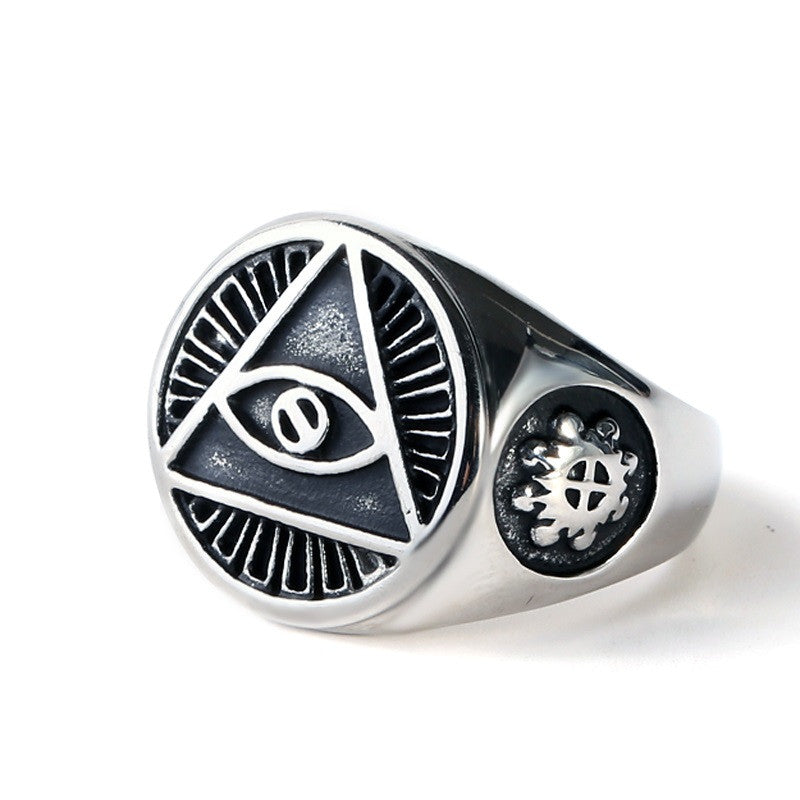 Evil Eye 316L Stainless Steel Ring