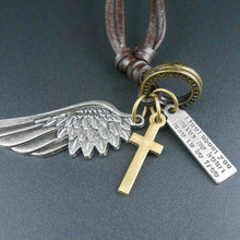 Vintage Angel Wing pendant Necklace - Sky Bracelets