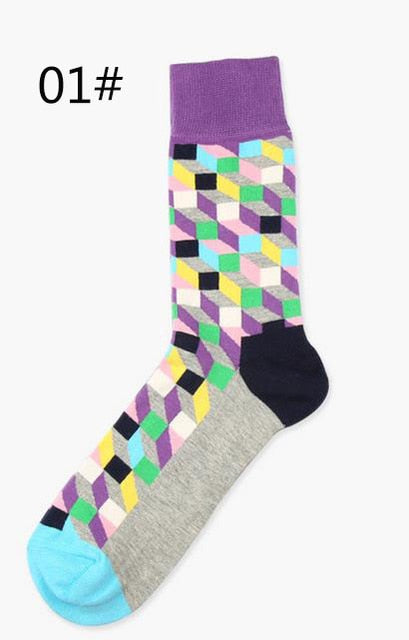 Gradient Color British Style Socks