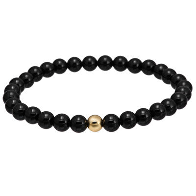 a66d680be Natural Stone Black Charm Bracelet Tiger Eye Round Bead - White natural  stone Gold Steel Beads ...