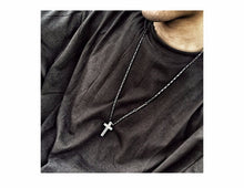 Cross Pendant Stainless Steel Link Chain Necklace - Sky Bracelets