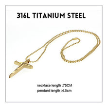 Titanium Stainless Steel Simple Cross Pendant Necklace - Sky Bracelets