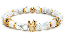 Imperial Crown Natural Stone Bead Bracelet
