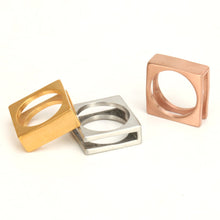 Simple square Titanium Steel Ring - Sky Bracelets