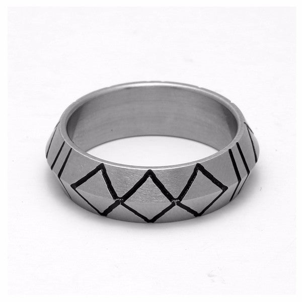 Minimalism Vintage Sweden Stainless Steel Ring
