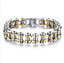 Stainless Steel Bicycle Chain Link Bracelet - Sky Bracelets