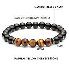 Mystic Tiger Eye Natural Stone Beads Bracelet - Sky Bracelets