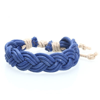 Hippy Boho Braided Cotton Strings Bracelet