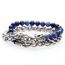 Stainless steel chain and natural stone bracelet