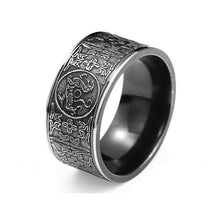 Mythical Dragon Greek symbols Retro Titanium steel ring