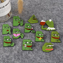 Sad frog meme pins