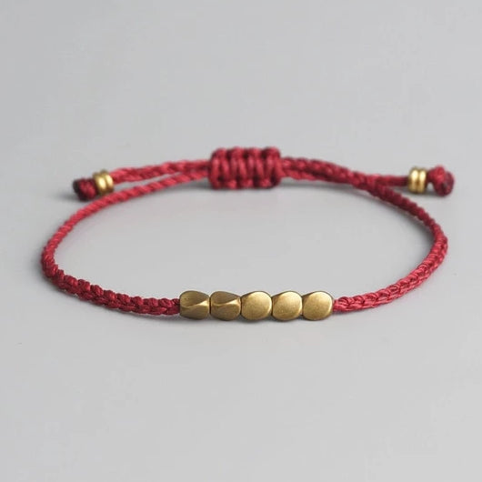 Tibetan Copper Bead Lucky Rope Bracelet