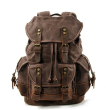 Waterproof Vintage Canvas Leather Backpack