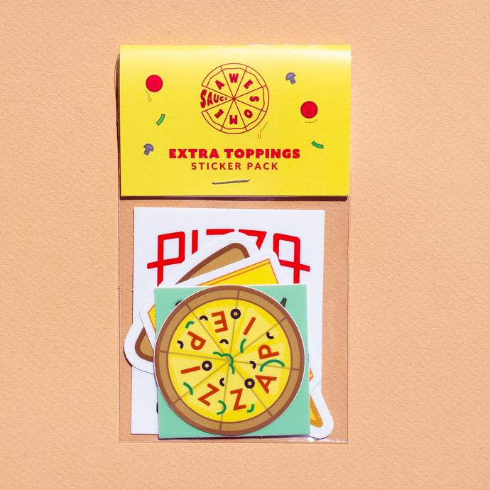 Extra Toppings Sticker Pack