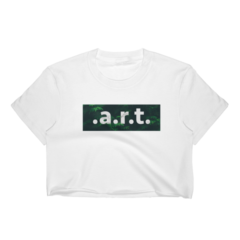 .A.R.T GREEN WOMENS CROP TOP