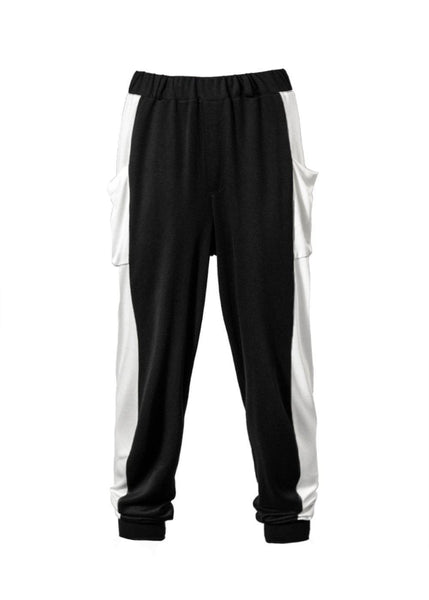 Draped Harem Joggers in Monochrome