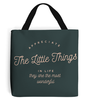 Appreciation Quote - Tote Bag with Pale Pink Writing
