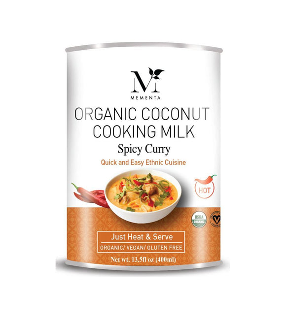 Organic Coconut Cooking Milk, Spicy Curry - 400ml