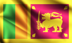 "Srilankan Flag ( Polyester ) with stick 12"" X 6"""