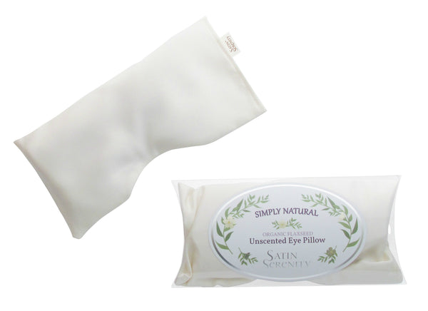 Flaxseed Eye Pillow Unscented Ivory