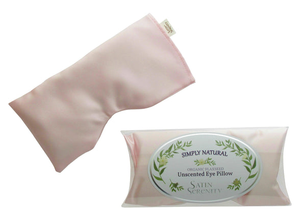 unscented flaxseed eye pillow in blush