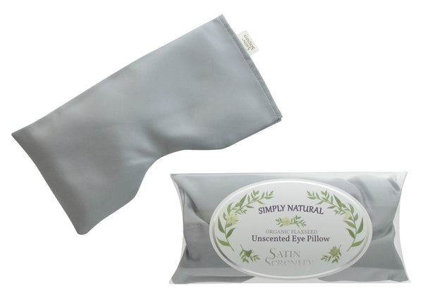 Flaxseed Eye Pillow Unscented Platinum