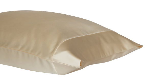 satin pillowcase cream