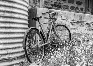 Old bicycle 2 fine art print