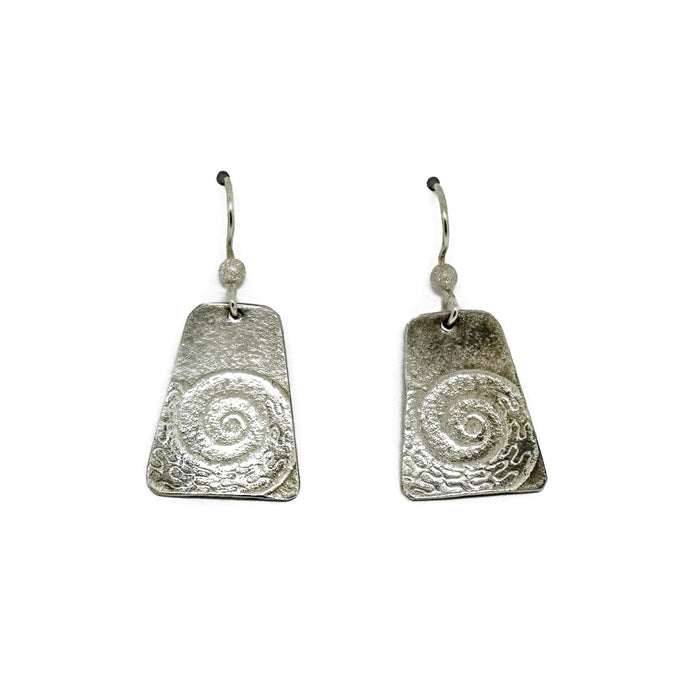 Sterling silver nautilus shell earrings
