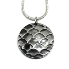 Sterling silver fish scales pendant