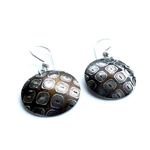 Mokume Gane sterling silver and copper earrings