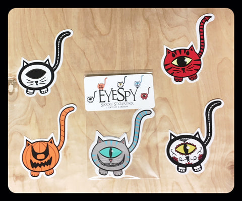 EyeSpy Spooky Kittyclops Sticker Pack - Morphe