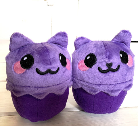 Cupcake Cat Purple Kitty Stuffed Animal Plush - Morphe