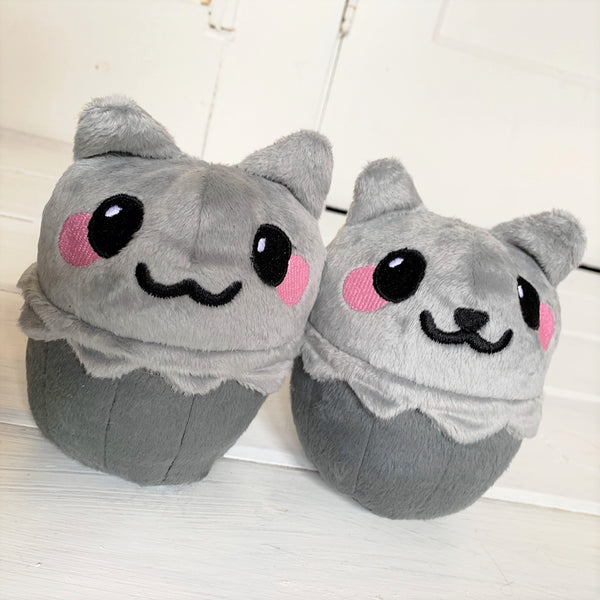 Cupcake Cat Gray Kitty Stuffed Animal Plush - Morphe