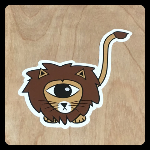 Lion EyeSpy Kittyclops Vinyl Sticker - Morphe