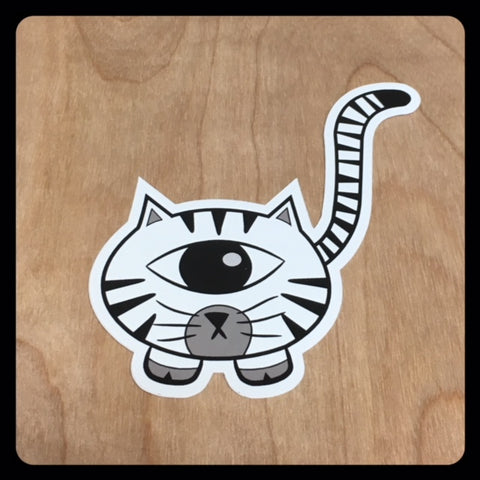 Zebra Kittyclops Vinyl Sticker - Morphe