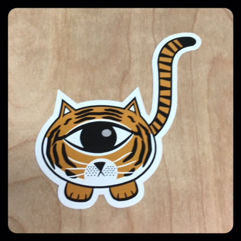 Tiger EyeSpy Kittyclops Vinyl Sticker - Morphe