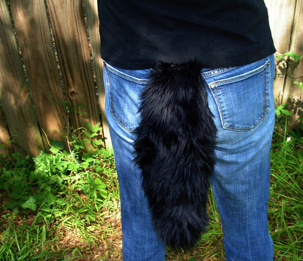Black Wolf Tail Faux Fur - Morphe