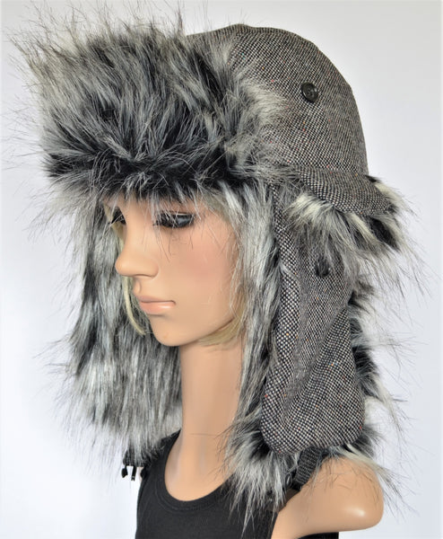 Trapper Hat Tweed with Faux Fur - Morphe